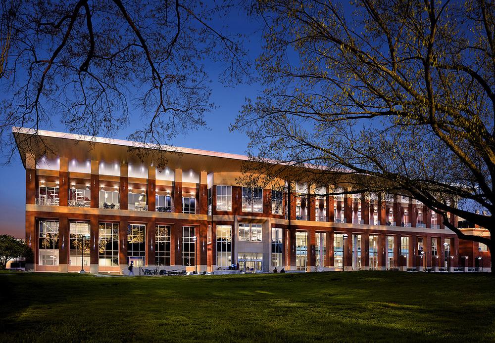 UMEM Student Center_Sunset Exterior